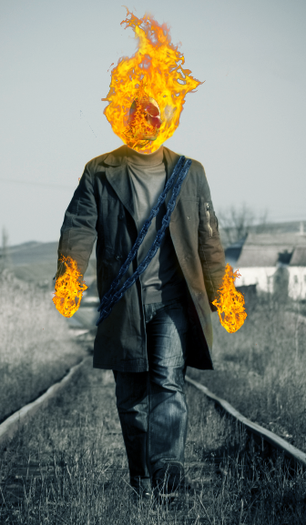 Pin on Ghost rider  |Ghost Rider Digital Painting Photoshop