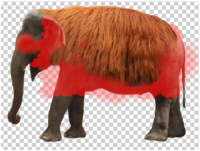 Surreal Fur Elephant in Photoshop Step - 6