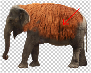 Surreal Fur Elephant in Photoshop Step - 8
