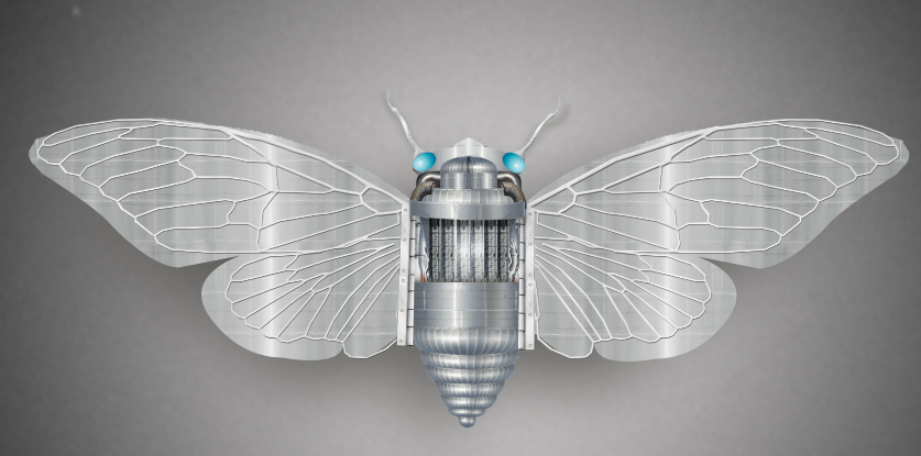 photo edit to create robotic butterfly
