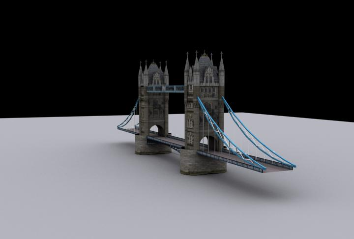 texture : london bridge in 3ds max