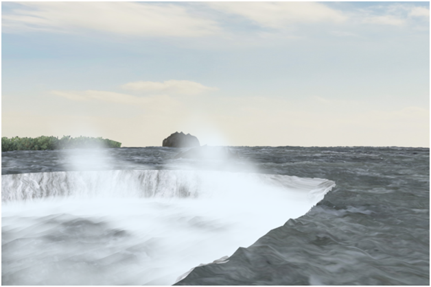 Niagara falls in 3ds maxs