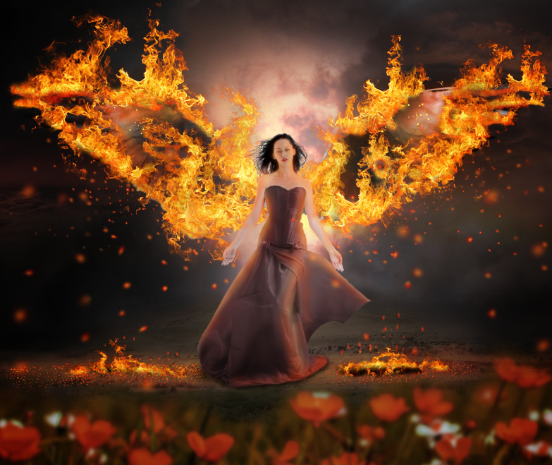 wings on fire PHOTOSHOP TUTORIALS