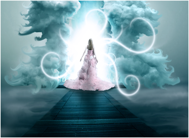 Surreal photo manipulation - into heaven