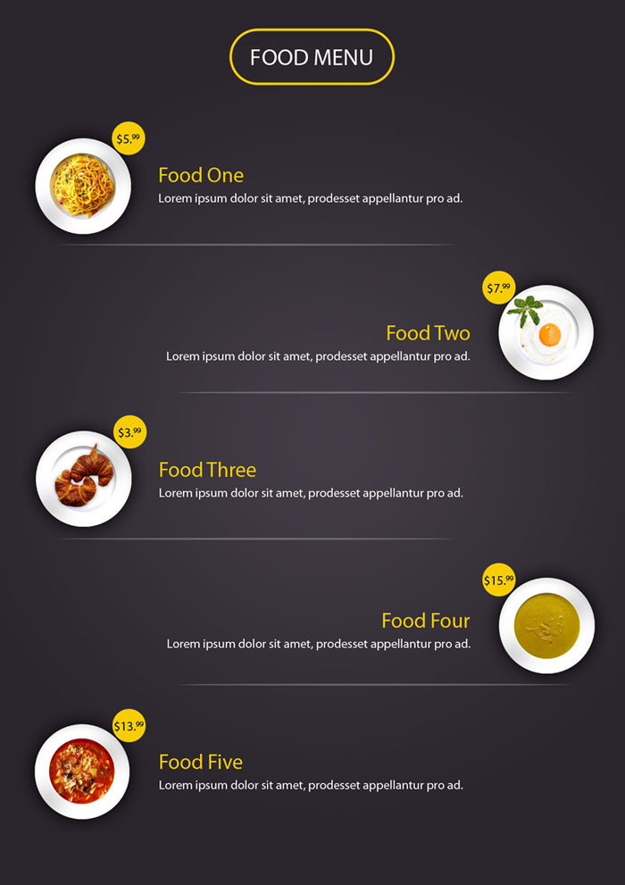 Food Menu PSD File Free Download - VFXMAXIMUM | VFXMAXIMUM